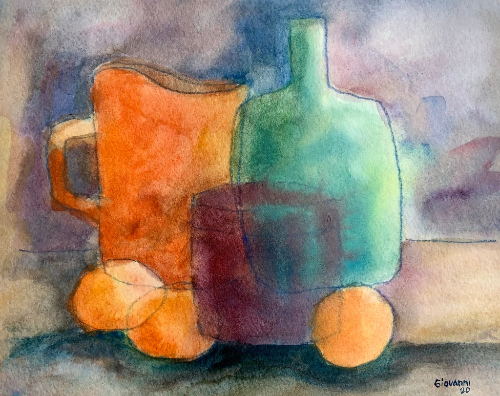 """Still Life"" watercolor on paper 2020"