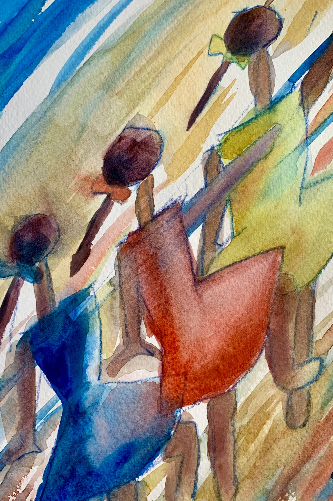 Playing Girls Painting With Watercolors Capturing The Moment Simple Ideas